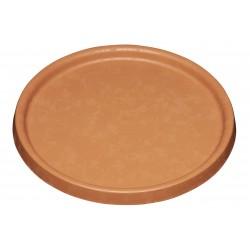 Soucoupe pot élément - Diamètre 25cm - terre de sienne