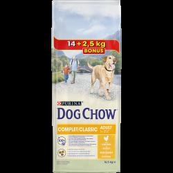 Dog Chow Complet Poulet - Croquettes chien - 14 kg + 2,5 kg GRATUIT