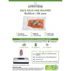 Sacs sous vide gauffres 15 x 30 cm - poche de 50 sacs - Le Pratique