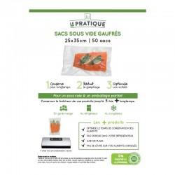 Sacs sous vide gauffres 25 x 35 cm - poche de 50 sacs - Le Pratique