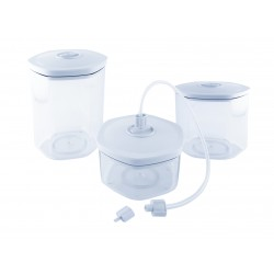 Lot 3 boites sous vide + kit adaptateur + 1 bouchon pour faire le vide dans bouteille - Le Pratique